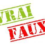 Vrai/Faux Fonction Publique