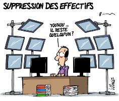 SUPPRESSION DES EFFECTIFS