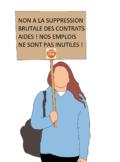 non a la ssuppression brutale des contrats aidés