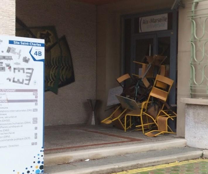 blocages AMU St Charles