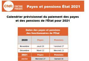 Payes et pensions des fonctionnaires de l'Etat