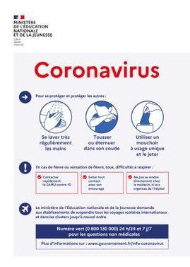 recommandation coronavirus