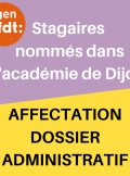 stagaires nommés Dijon