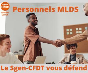 Personnels MLDS : Le Sgen-CFDT vous défend