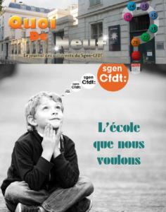 Dossier Sgen-CFDT : L'école que nous voulons - Prospective